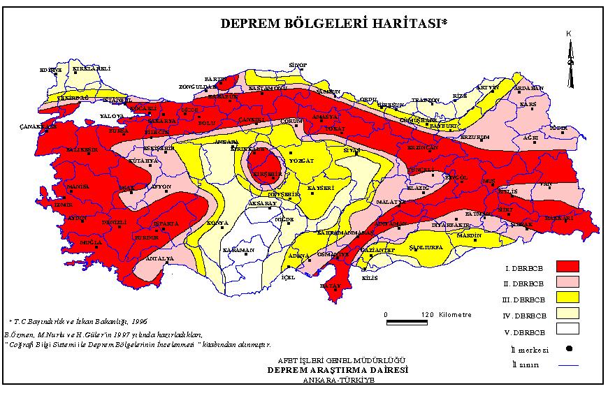 Deprem Bölgeleri Haritası